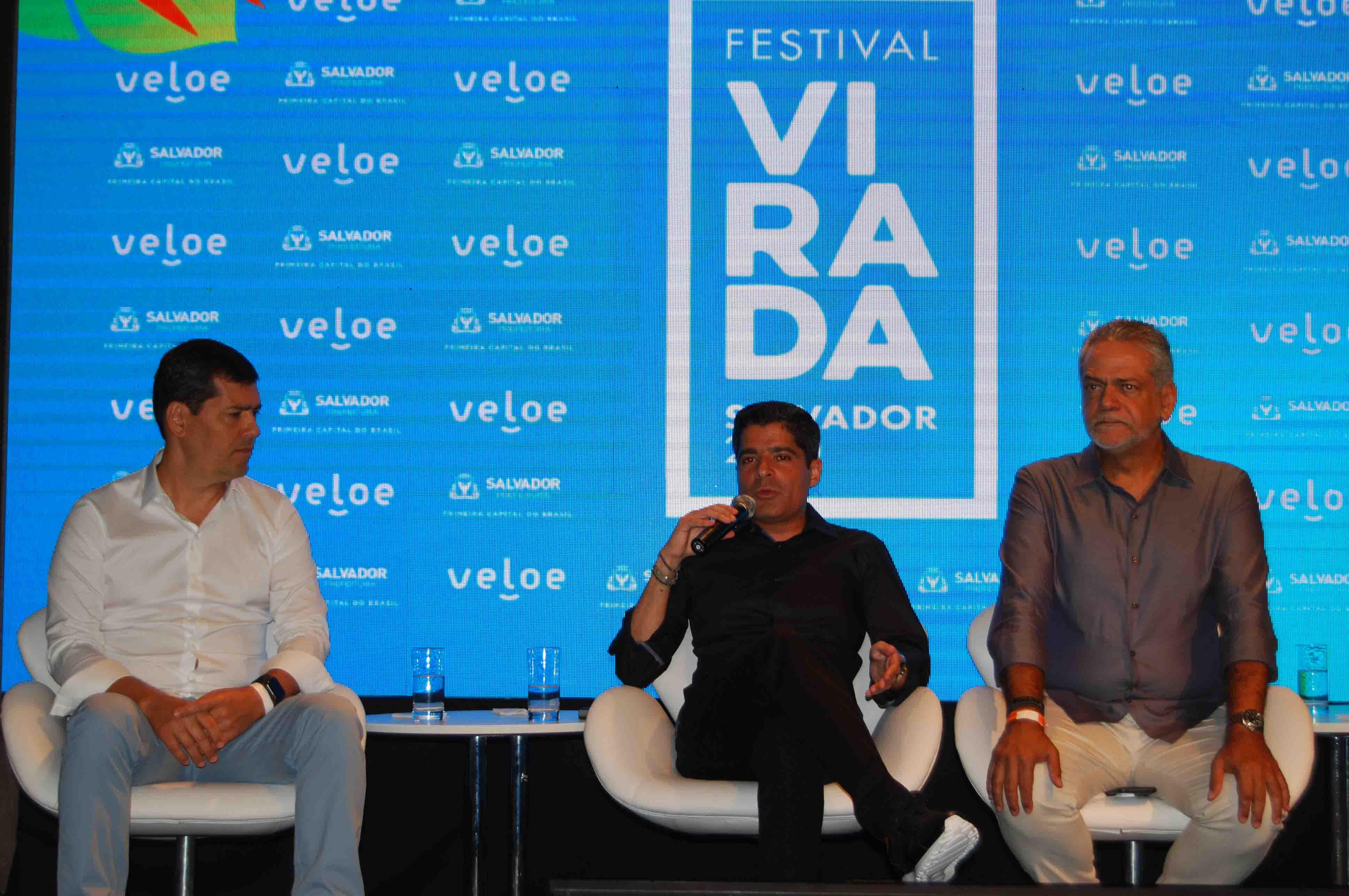 Cláudio Tinoco, Secretário de Turismo e Cultura de Salvador, AMC Neto, Prefeito de Salvador e Isaac Edington, Presidente da Santur
