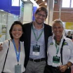 Claudia Shishido e Gonzalo Romero, da Air Europa, com Rosa Masgrau, do M&E