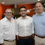 Claudio Portugal, da CP Hotels, Diego Dantas e Alexander Haim, da R11