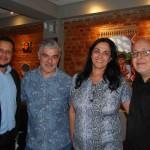 Clayton Ramos, da Atlas Operadora, Evando Gelmego, da W.E.M Brasil, Maria Amélia, da Memeia Representações Turísticas e Marco Orsolim, da W.E.M Brasil