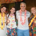 Cristiane e Fátima Cunha e Eric Lorga, da Affinity, com sua esposa Andressa Lorga