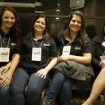 Cristina Meldola, Adriana Santos, Andreia Oliveira e Jessica Silva, da Schultz