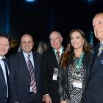 Dalcio Oliveira, deputado Estadual, João Bertolucci, prefeito de Gramado, Herculano Passos, deputado, Rita Passos, e Michel Tuma Ness, da Fenactur