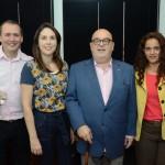 Daniel Santoro, da Ibéria BA, Bruna Freitas e Luciana Barbosa, da Aeromexico, e Cassulino, da Ancoradouro