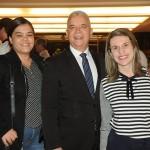 Daniela Peleteiro, José Geraldo e Daniele Martins, do Windsor
