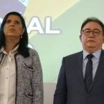 Ana Ligia, vice-governador da Paraíba, e Manoel Linhares, da ABIH