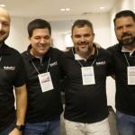 Diego Floriano, de SP, Luciano Bonfim, diretor Comercial, Leonardo Nogueira, de SC, e Cleib Filho, do TO