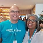 Edson Silveira, da Ancoradouro, e Rosângela Fritsche, da Ibirá Turismo