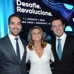 Eduardo Leite, governador do Rio Grande do Sul, Marta Rossi e Eduardo Zorzanello, do Festuris