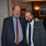 Eduardo Sanovicz, da Abear, com Guilherme Paulus, fundador da CVC e da GJP