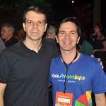 Eduardo Tiburtius, do Porto de Galinhas CVB e Daniel Jacarandá, da Associação de Hotéis de Porto de Galinhas