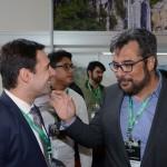 Eduardo Zorzanello, do Festuris, com Roberto Nedelciu, presidente da Braztoa
