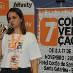 Elisandra Morel, da Affinity, abordou o mercado corretor na Convenção