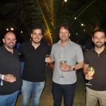 Emerson Cordova, Eduardo Loyo, do Marulhos Resort, com Mario Pilar e André Reid, da Secretaria de Turismo de Ipojuca