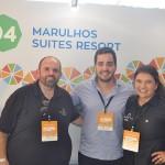 Emerson Cordova, Eduardo Loyo e Raira Santos, do Marulhos Resort