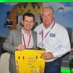 Erick Vasconcelos, da secretaria de Turismo de Fortaleza, e Roy Taylor, presidente do M&E