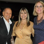 Erly de Jesus, da Setur-RJ, com Cristina Mattos e Ana Helena, do Everest Hotéis