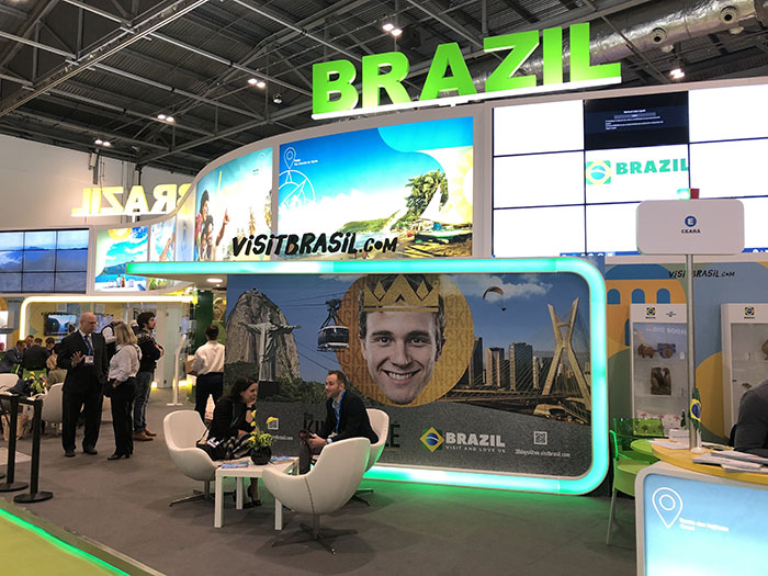 Estande do Brasil na WTM Londres 2019