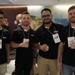 Fábio Henrique, do Administrativo, Jean Oliveira e Vinicius Oliveira, da TZ Seguros, e Anderson Hoinacki, do Administrativo