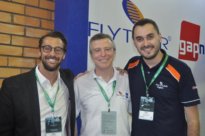 Fábio Oliveira, Ricardo Pauli e Rafael Ortiz, da Flytour