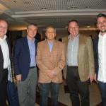 Fabio Wilms, do Hotelbeds, Luiz Strauss, da Abav-RJ, Salvador Saladino, da BITO, Michael Weber, da Turisrio, e Phillipe Campelo, do Rio CVB