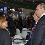 Fatima Vila Maior, diretora da BTL, em reunião com Wilson Witzel, governador do Rio de Janeiro