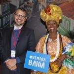 Fausto Franco, secretário de Turismo da Bahia, com a baiana Marly Trindade