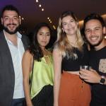 Felipe Giannini, Niegna Lilian e Isabella Almeida, da Absolut Sport, e Jeanleo Figueira, da Havas