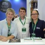 Fernanda Morici e Mirella Morici, da ENIT, e Rogério Schaffer, da Alitalia