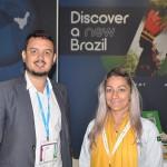 Fernando Magalhães, da Goiás Turismo, e Gisele Machado, do Consórcio Brasil Central