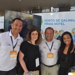 Fernando Salazar e Márcio Silva, do Porto de Galinhas Praia Hotel, com operadoras durante o Visit Pernambuco