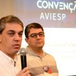 Fernando Santos, presidente da Abav-SP, e Marcos Luca, presidente da Avesp