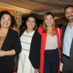 Flávia Martins, Karina Goes, Lia Coutinho e Aloysio Duarte, do LSH Hotel