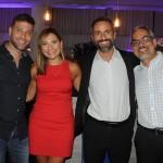 Flavio Valle, da Via Capi, Lia Coutinho e Aloysio Duarte, do LSH, e Julio Correa, da ABIH-RJ