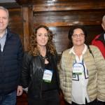 Frederico Levy, da Interpoint, Marina Figueiredo, da Pomptur, Nirce Finkelstein e Abrahão Finkelstein, da Mercatur Premium