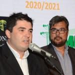 Giovane Nunes, prefeito de São Joaquim, com Roberto Nedelciu