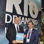 Governador Wilson Witzel e secretário de Turtismo, Otavio Leite, no estande do Rio de Janeiro na WTM Londres