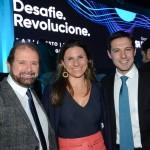 Guilherme Paulus, da GJP, Any Brocker, da Brocker Turismo, e Eduardo Zorzanello, do Festuris