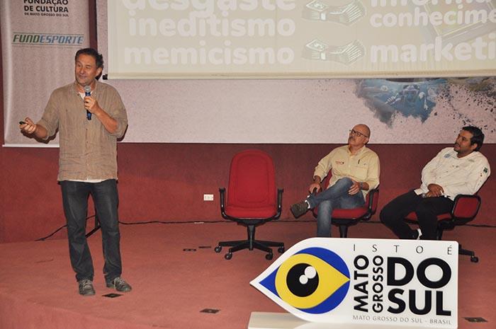 Guto Carvalho, Ney Ginçalves e Edson Moroni participaram do painel sobre Birdwatching