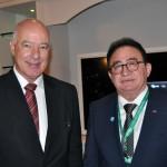 Herculano Passos, deputado Federal, e Manoel Linhares, presidente da ABIH