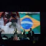 Momento em que foi executado o Hino Nacional Brasileiro