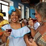 Recepção no restaurante no centro histórico de La Habana Vieja