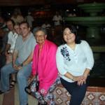 Delegação do Brasil e Peru durante jantar no complexo La Cecilia