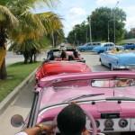 Os participantes do fam também fizeram um passeio de 1 hora nos auto clássicos pela Havana Moderna