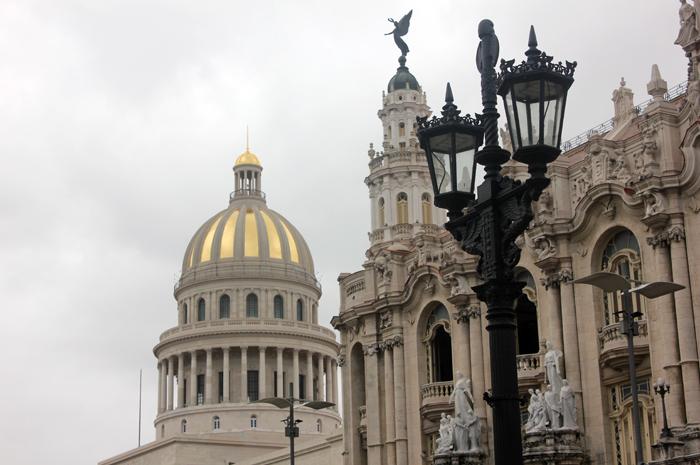 O capitólio de Cuba, recentemente restaurado
