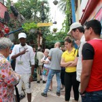 Os participantes do fam puderam conhecer o Callejon de Hamel, centro de arte de Havana