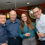 Ivan Blanco er Caroline Gramajo, da Aerolineas Argentinas, com Orlando Domingos e Edson Ruy, do Grupo Ancoradouro