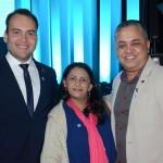 Jair Galvão, secretário de Turismo de Maceió, Maria Antônia, superintendente de Turismo do Tocantins, e Euzimar Pereira, da Prefeitura de Palmas