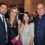 João Augusto Machado, da Abav-RS, e sua esposa Fernanda, com Rita Vasconcelos, da Abav-RS e o marido Ubiratan Leal