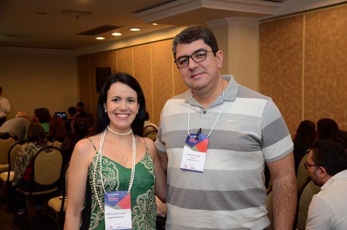 Juliana Assumpção e Marcos Lucas da Aviesp